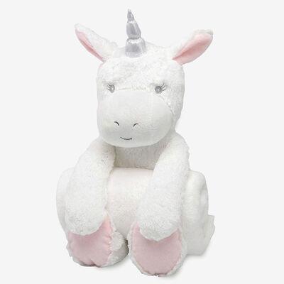 Elegant Baby Unicorn Bedtime Huggie Plush Toy