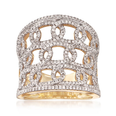 1.00 ct. t.w. Diamond Multi-Loop Ring in 14kt Yellow Gold, , default