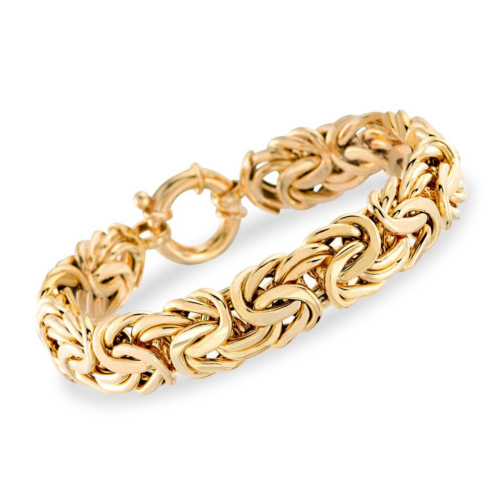 Italian 14kt Yellow Gold Byzantine Bracelet 7 5 Default