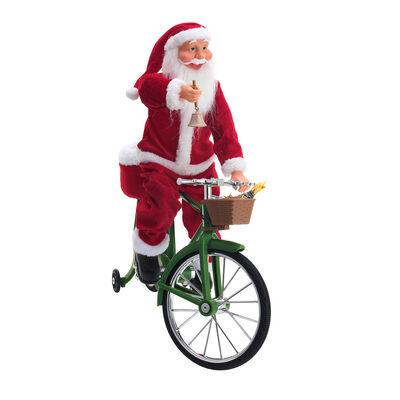 "Mr. Christmas 22""H Cycling Santa , , default"