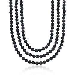8-8.5mm Black Onyx Endless Necklace, , default
