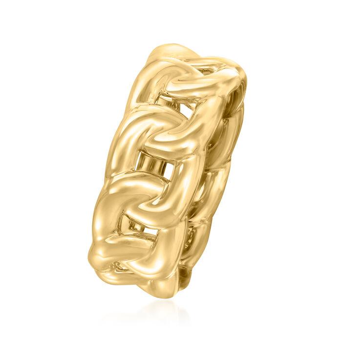 Italian Andiamo 14kt Yellow Gold Curb-Link Ring