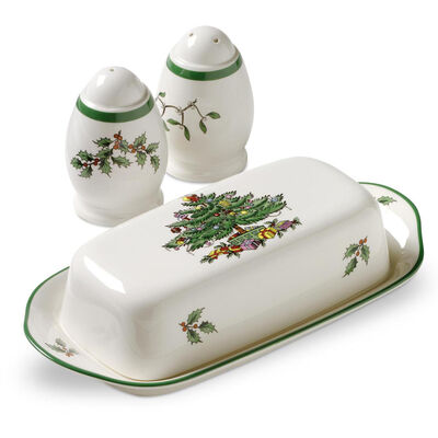 "Spode ""Christmas Tree"" 3-pc. Hostess Set"