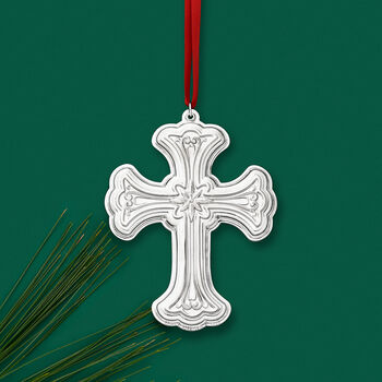 Towle 2019 Annual Sterling Silver Cross Ornament - 27th Edition, , default