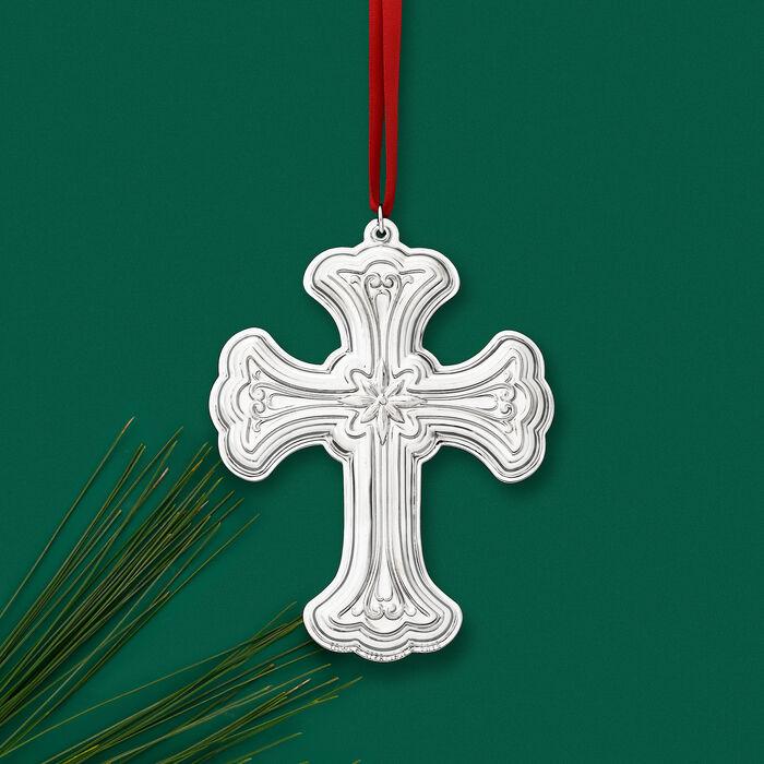 Towle 2019 Annual Sterling Silver Cross Ornament - 27th Edition