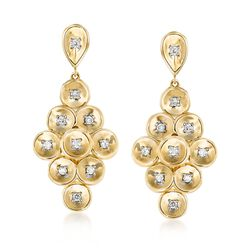 .35 ct. t.w. Diamond Disc Drop Earrings in 14kt Yellow Gold, , default