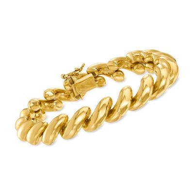 Italian 14kt Yellow Gold San Marco Bracelet