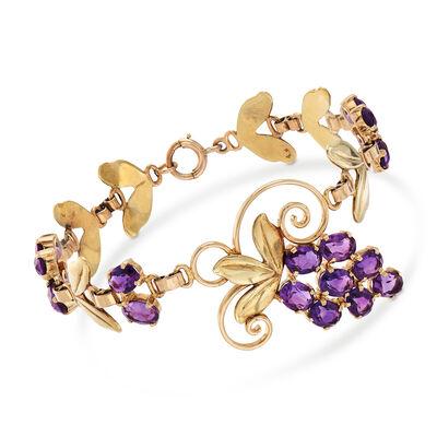 C. 1940 Vintage 14.80 ct. t.w. Grapevine Bracelet in 14kt Two-Tone Gold, , default