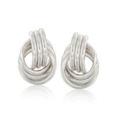 Sterling Silver Love Knot Earrings  , , default
