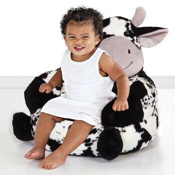 Children's Plush Cow Chair, , default
