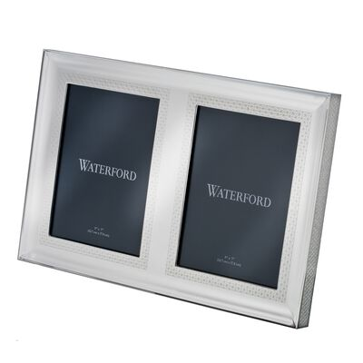 "Waterford ""Lismore Diamond"" Silvertone Double Frame, , default"