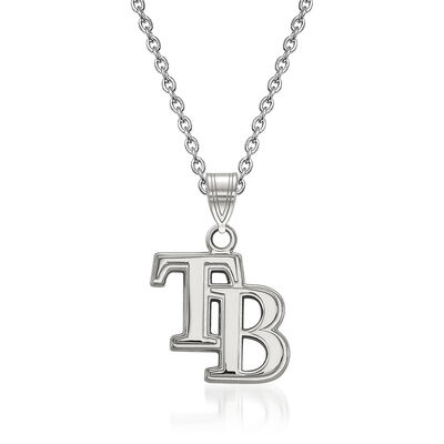 """Sterling Silver MLB Tampa Bay Rays Pendant Necklace. 18"""", , default"""