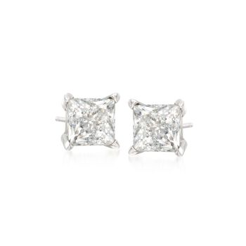 .25 ct. t.w. Princess-Cut Diamond Stud Earrings in 14kt White Gold, , default