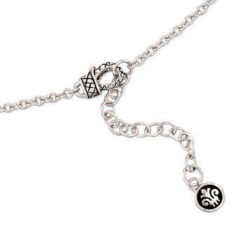 "Andrea Candela ""Enamorada"" .16 ct. t.w. Diamond Station Necklace in Sterling Silver. 44"", , default"