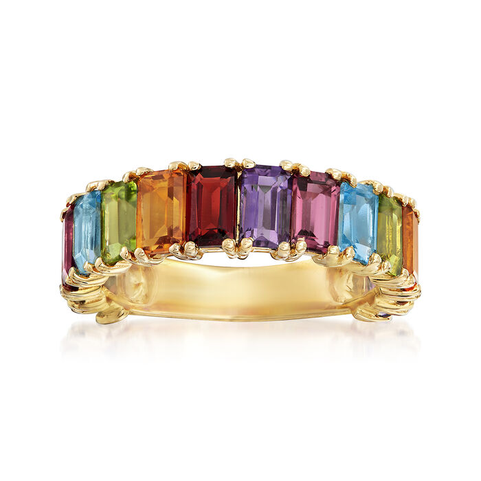 4.20 ct. t.w. Multi-Stone Ring in 14kt Yellow Gold
