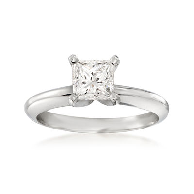 1.01 Carat Certified Diamond Solitaire Ring in Platinum, , default