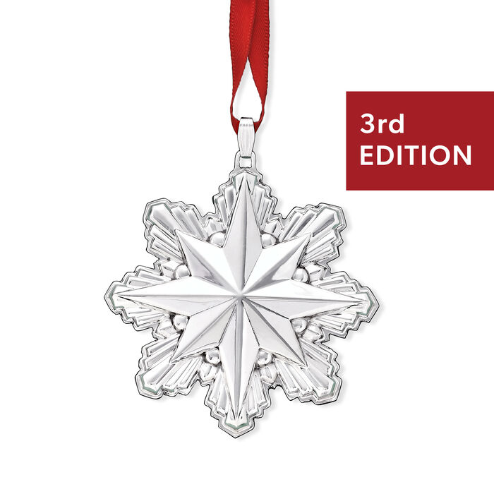 Reed & Barton 2019 Annual Sterling Silver Holiday Star Ornament - 3rd Edition