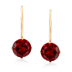 2.00 ct. t.w. Garnet Earrings in 14kt Yellow Gold, , default