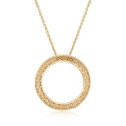 Roberto Coin 18kt Yellow Gold Mesh Circle Necklace, , default