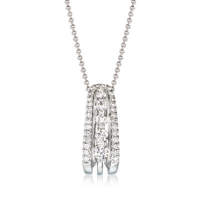 .60 ct. t.w. Diamond Pendant Necklace in 18kt White Gold