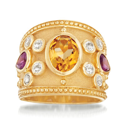 3.80 ct. t.w. Multi-Stone Ring in 14kt Gold Over Sterling, , default