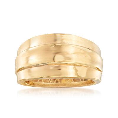 Italian 18kt Yellow Gold Ring, , default