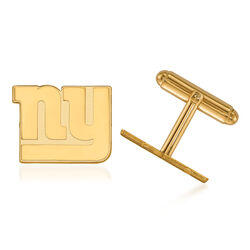 14kt Yellow Gold NFL New York Giants Cuff Links, , default