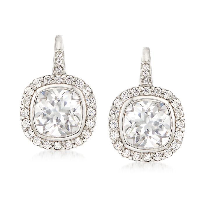 4.63 ct. t.w. CZ Drop Earrings in Sterling Silver , , default