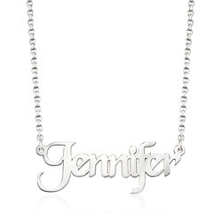 Sterling Silver Name Necklace, , default
