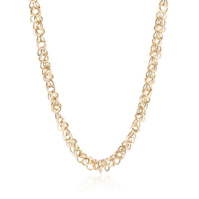 14kt Yellow Gold Multi-Circle Link Necklace, , default