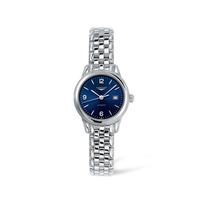 Longines Flagship Women's 30mm Automatic Stainless Steel Watch - Blue Dial , , default