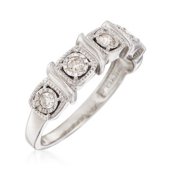 .25 ct. t.w. Diamond Five-Stone Ring in 14kt White Gold, , default