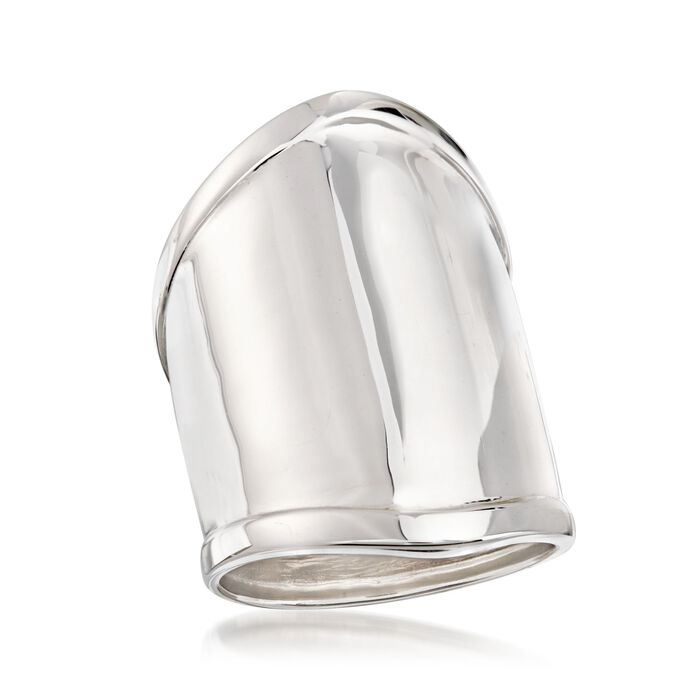 Sterling Silver Wide Polished Ring
