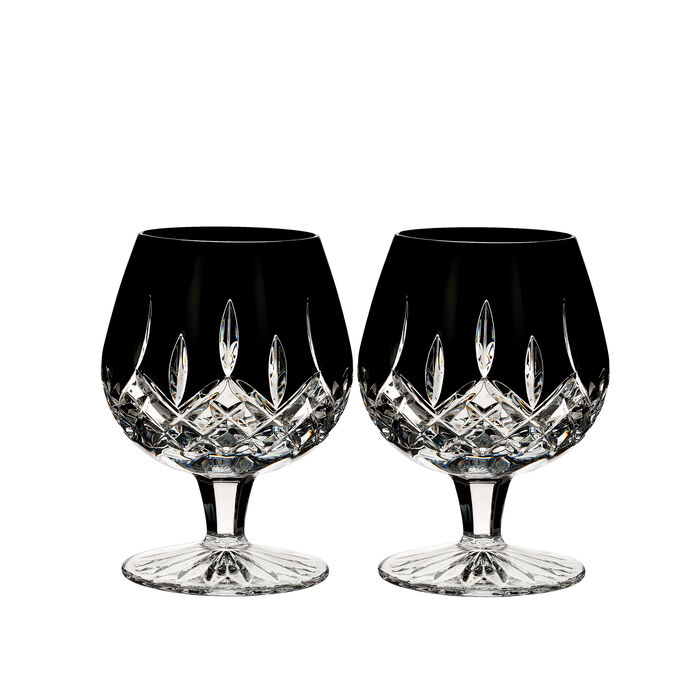"Waterford Crystal ""Black"" Set of 2 Lismore Brandy Glasses, , default"