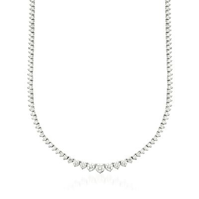 5.00 ct. t.w. Graduated Diamond Tennis Necklace in 14kt White Gold