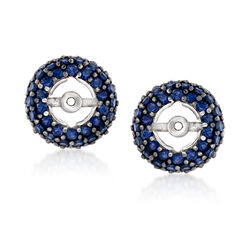 2.50 ct. t.w. Sapphire Earring Jackets in Sterling Silver, , default