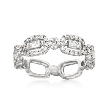 .90 ct. t.w. Baguette and Round Diamond Ring in 14kt White Gold, , default
