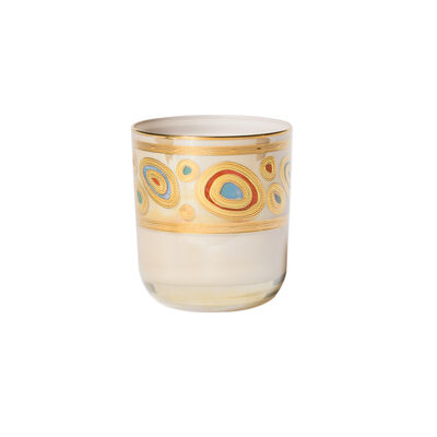 "Vietri ""Regalia"" Cream Double Old-Fashioned Glass"