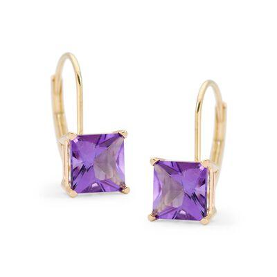 1.80 ct. t.w. Amethyst Earrings in 14kt Yellow Gold , , default