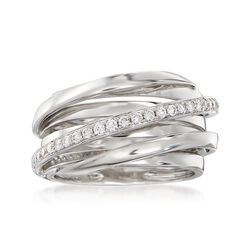 .31 ct. t.w. Diamond Highway Ring in 14kt White Gold, , default