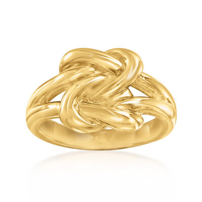14kt Yellow Gold Double Love Knot Ring