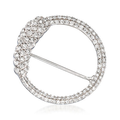 1.00 ct. t.w. Diamond Open-Circle Pin in Sterling Silver, , default