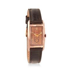 C. 1945 Vintage Gruen Curvex Women's Watch in 14kt Rose Gold , , default
