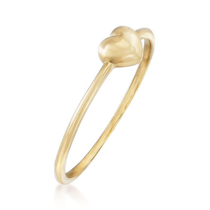 18kt Yellow Gold Puffed Heart Ring