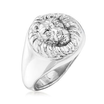 Italian Sterling Silver Lion Ring