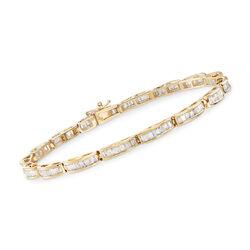 2.00 ct. t.w. Tapered Baguette Diamond Bracelet in 14kt White Gold, , default