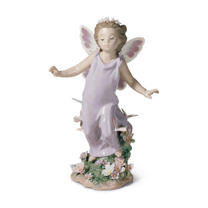 """Lladro """"Butterfly Wings"""" Porcelain Figurine"""