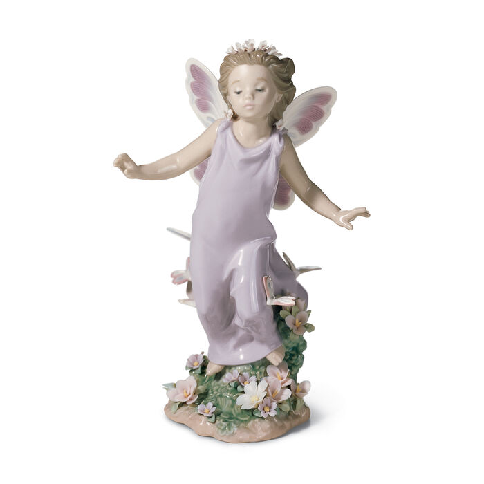 "Lladro ""Butterfly Wings"" Porcelain Figurine, , default"