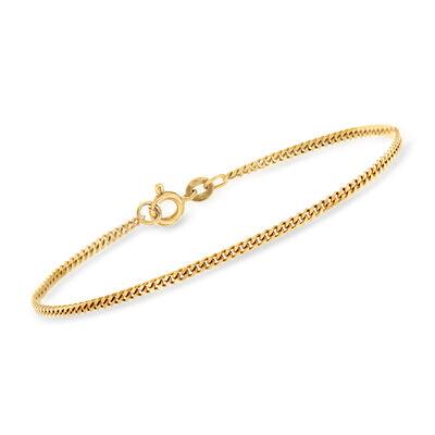 C. 1990 Vintage 18kt Yellow Gold Curb-Link Bracelet, , default