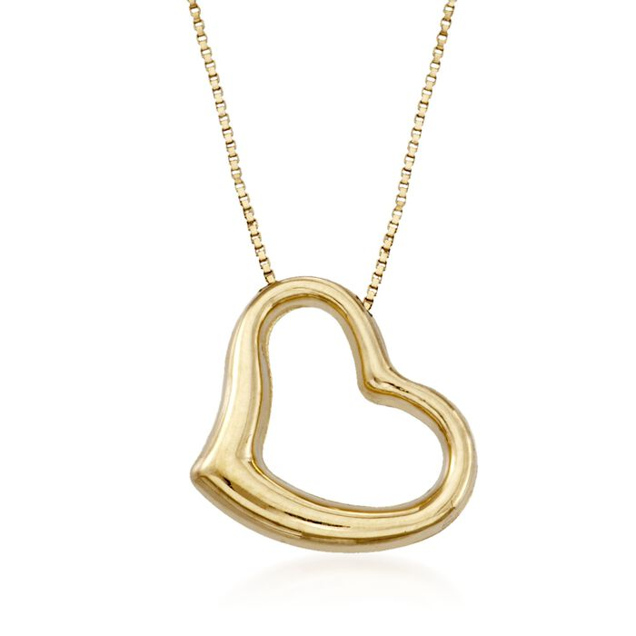 "Roberto Coin 18kt Yellow Gold Heart Pendant Necklace. 16"", , default"